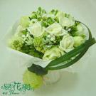 白色夢幻白玫瑰花束
