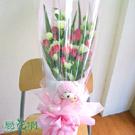 QQ小熊玫瑰花束