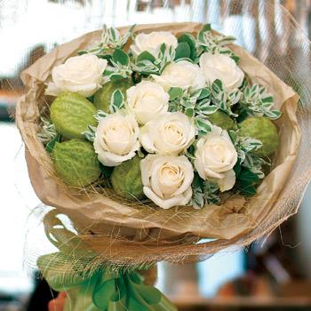 純純之愛白玫瑰花束